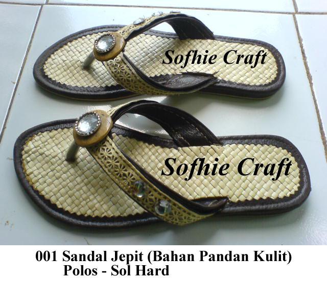 Sandal Pandan Kulit Jepit Batok Mute | Sofhie Craft